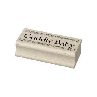 Tampon en caoutchouc câlin de bébé, nouveau timbre
