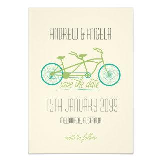 Tandemfahrrad/Fahrrad modernes Wedding Save the