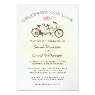 Tandemfahrrad-Hochzeits-Einladung 12,7 X 17,8 Cm Einladungskarte