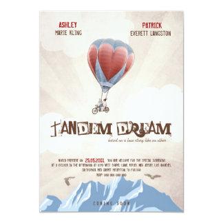TandemLiebe-Traum-Hochzeit laden ein (Film-Art) 12,7 X 17,8 Cm Einladungskarte