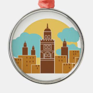 Tanger Rundes Silberfarbenes Ornament