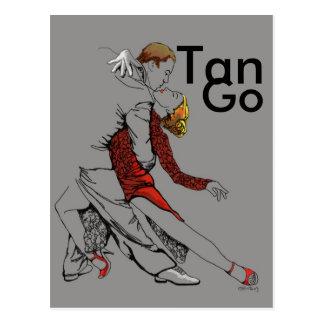 Tango-Intimität Postkarte