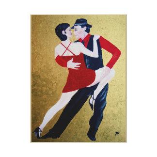 Tango-Moment Gespannte Galerie Drucke