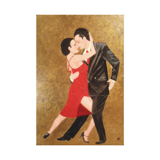 Tango-Moment Leinwanddruck