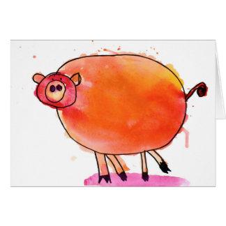 Tango-Schwein • Nate Perdue, Alter 6 Mitteilungskarte