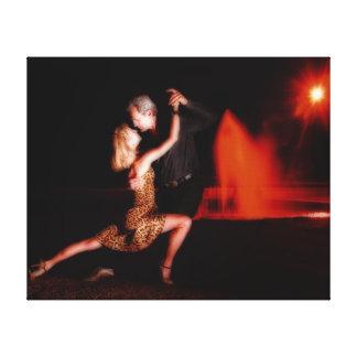 Tango-Tänzer Galerie Faltleinwand
