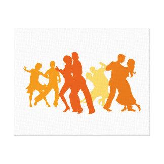 Tango-Tänzer-Illustration Gespannte Galeriedrucke