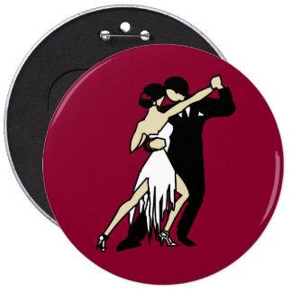 Tango-Tänzer Runder Button 15,3 Cm