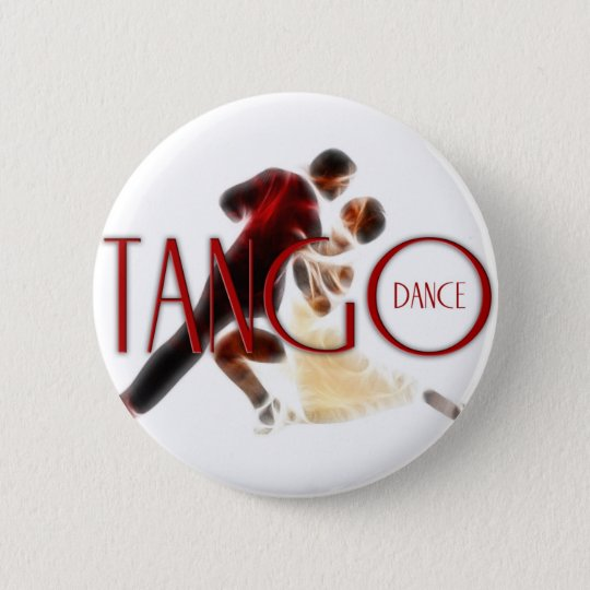 Tango tanzt rot runder button 5,7 cm