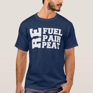Tanken Sie Reparatur-Wiederholung ausarbeiten T - T-Shirt