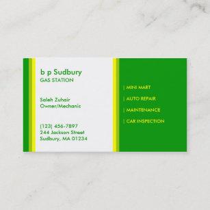 Tankstelle-Visitenkarte Visitenkarte