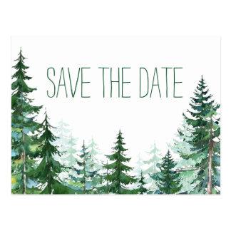 Tannen-Baum, der Save the Date Wedding ist Postkarte