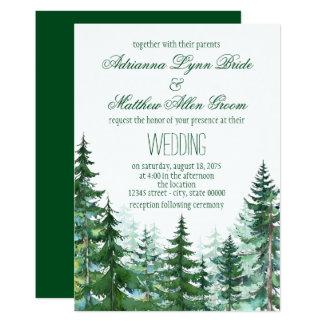 Tannen-Baum-Hochzeits-Einladungen Karte