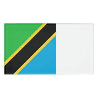 Tansania-Flagge Namenschild
