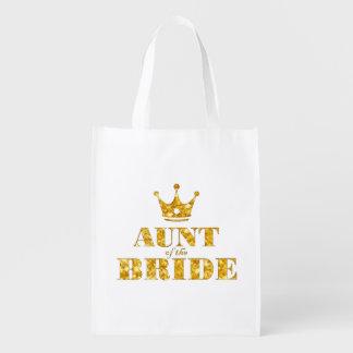 Tante de la jeune mariée sac réutilisable d'épcierie
