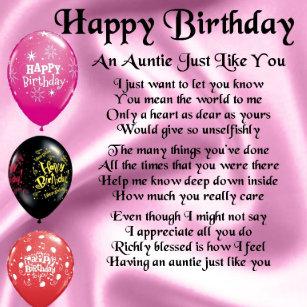 Gute Zum Geburtstag Tante Geschenke Zazzle Ch