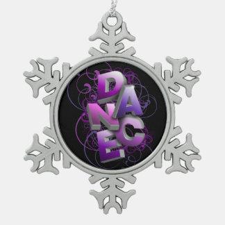 Tanz 3D (Sommer) Schneeflocken Zinn-Ornament