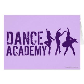 Tanz Acadmey Tänzer-Silhouette-Logo Karte