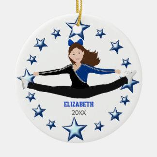 Tanz-Beifall-brünettes Blaues und schwarz Keramik Ornament