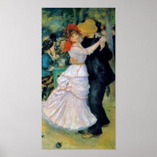 Tanz Bougival Renoir am Kunst-Druck Poster