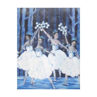 Tanz der Schneeflocken Leinwanddruck