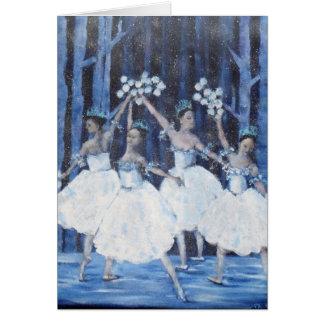 Tanz des Schneeflocken I Nussknacker-Balletts Karte