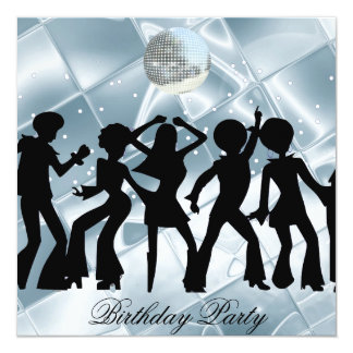 Tanz-Disco-Geburtstags-Partyeis Einladung