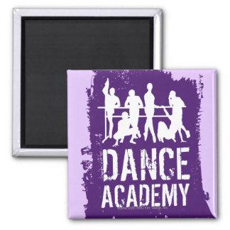 Tanz-HochschulSilhouette-Logo Quadratischer Magnet