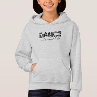 Tanz… ist es, was ich Hoodie - Aschen-Grau tue