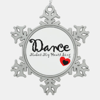 Tanz lässt mein Herz singen Schneeflocken Zinn-Ornament