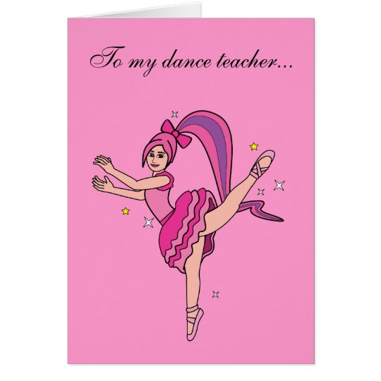 Tanz-Lehrer danken Ihnen Grußkarte