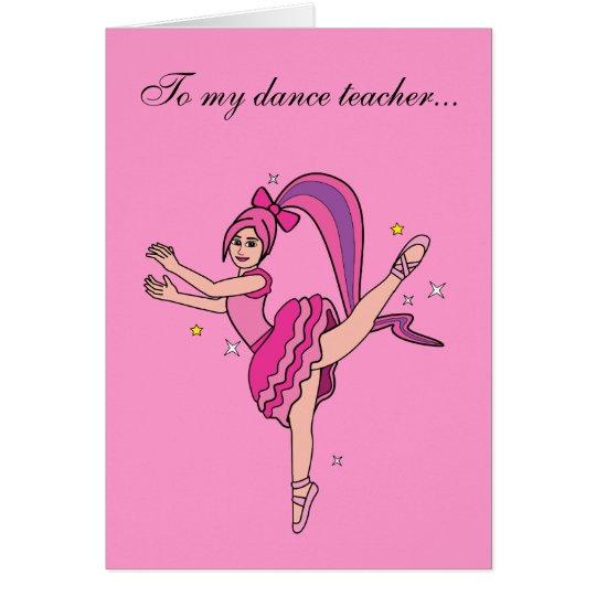 Tanz-Lehrer danken Ihnen Karte