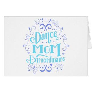 Tanz-Mamma Extraordinaire - lila und blau Karte
