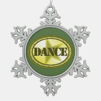 Tanz-Oval Schneeflocken Zinn-Ornament