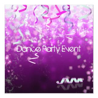 Tanz-Party-Ereignis-Ausläufer Quadratische 13,3 Cm Einladungskarte