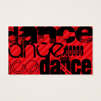 Tanz; Scharlachrot Rot-Streifen- Visitenkarte