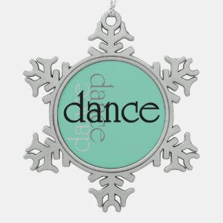 Tanz-Schatten Schneeflocken Zinn-Ornament