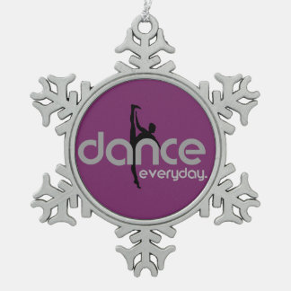 Tanz täglich schneeflocken Zinn-Ornament