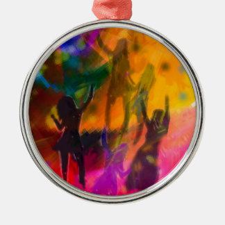 Tanz und Party Silbernes Ornament
