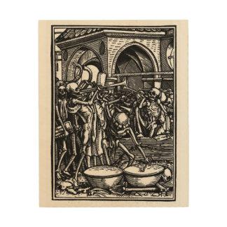 Tanz von Tod | die Knochen aller Männer | 8x10 Holzdrucke