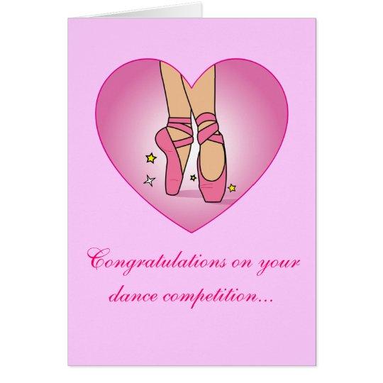 Tanz-Wettbewerbs-Glückwunsch-Karte Karte