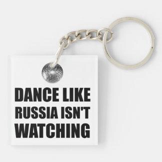 Tanz wie nicht aufpassendes Russland Schlüsselanhänger
