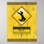Tanz-Zone Voran-Uhr für die Tänzer, die Bewegungen Plakatdrucke