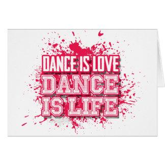 Tanz zum Liebe-Tanz zum zu leben Karte