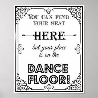 Tanzboden-Sitzplatzplanhochzeits- oder Poster