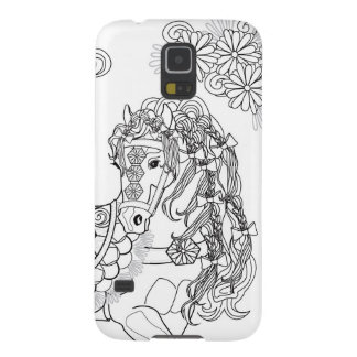Tänzelnder Fall Gänseblümchen-PferdeSamsungs S5 Samsung Galaxy S5 Hülle