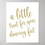 Tanzen beschuht Hochzeits-Zeichen des Poster