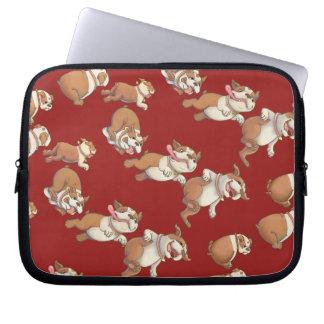 Tanzen-Bulldogge Laptop Sleeve