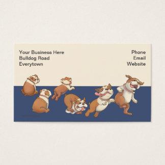 Tanzen-Bulldoggen Visitenkarte