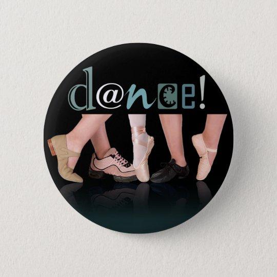"""""""Tanzen-Füße"""" - Choreograf, Tänzer, Lehrer Runder Button 5,1 Cm"""